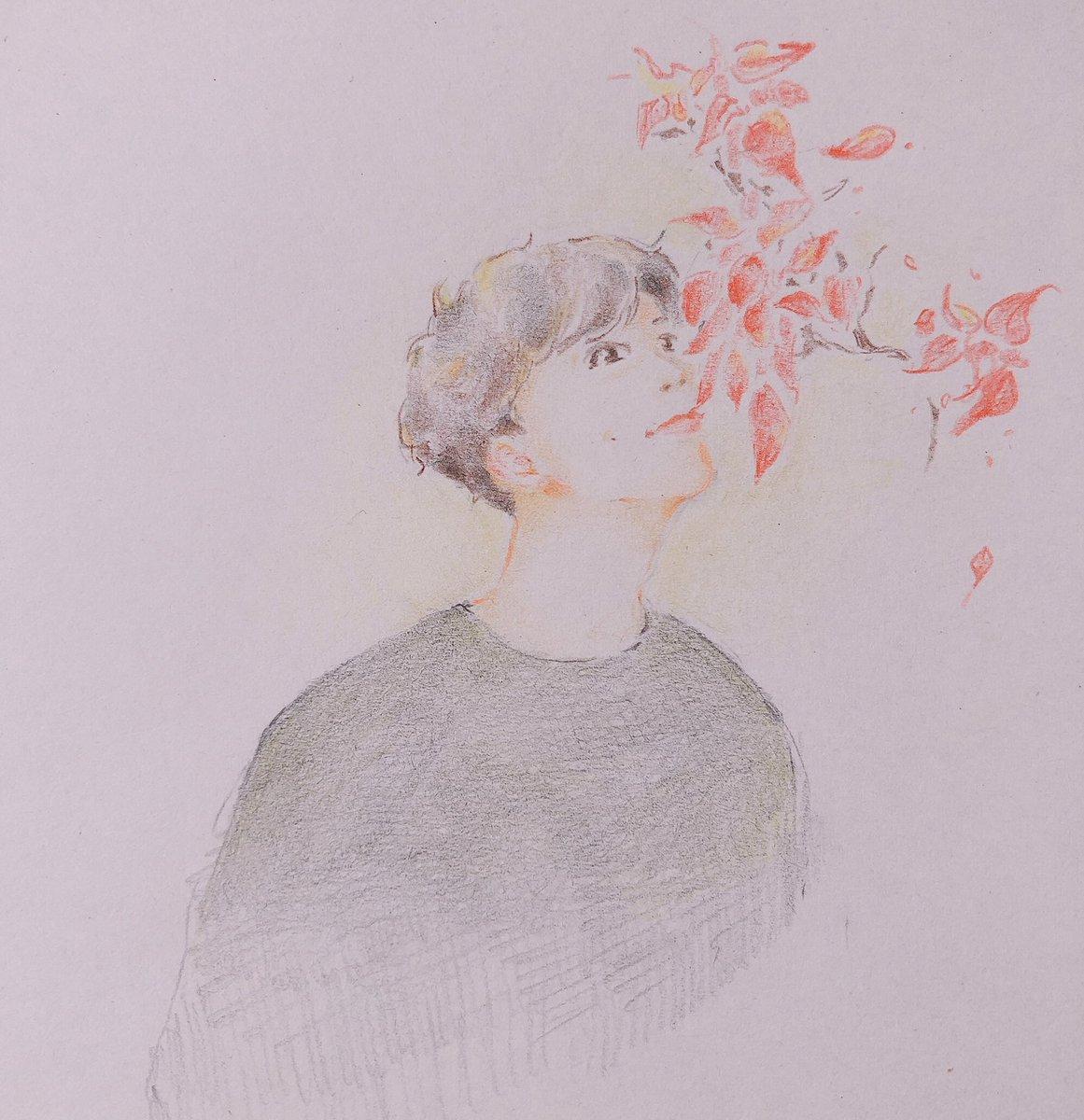 #warwanarat #yinwarfanart 色鉛筆で描いてみました✏️日本から応援してます✨