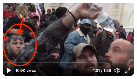 Bet his mom kicked his ass for stretching out her cat-eye sunglasses.  #NeverForgetJanuary6th #TrumpRiots