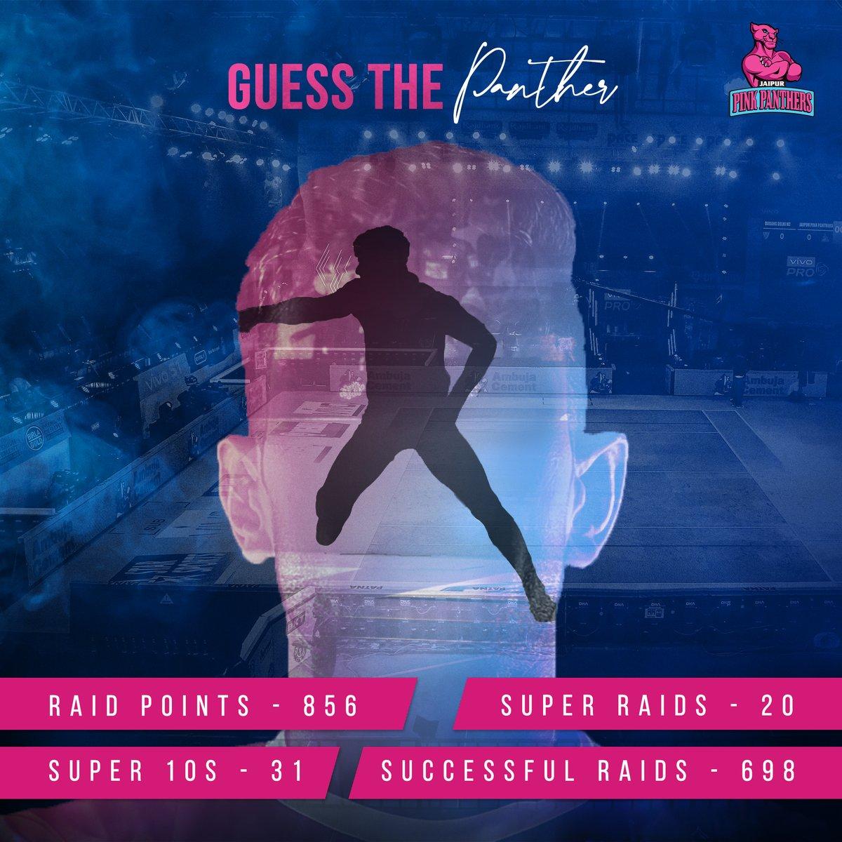 Can you guess your #Panther? 🧐 🤔  #PantherSquad #JaiHanuman #TopCats #JaipurPinkPanthers #JPP #Jaipur #vivoprokabaddi
