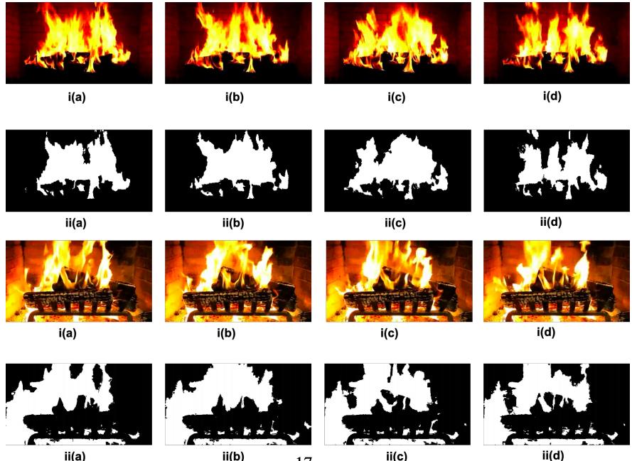 動画中の炎の領域をセグメンテーションすることで火災検知を行う教師なしモデルの論文.