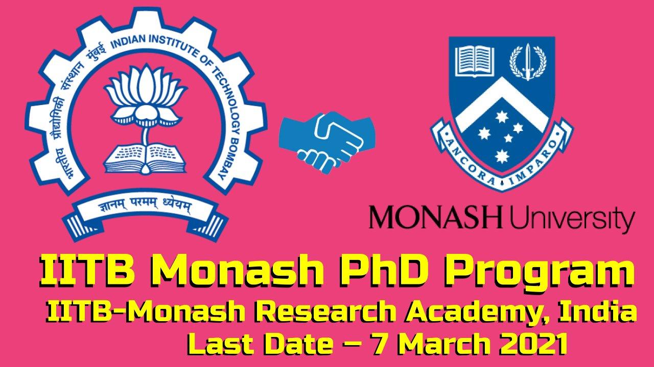 IITB Monash PhD Program at IITB-Monash Research Academy, India
