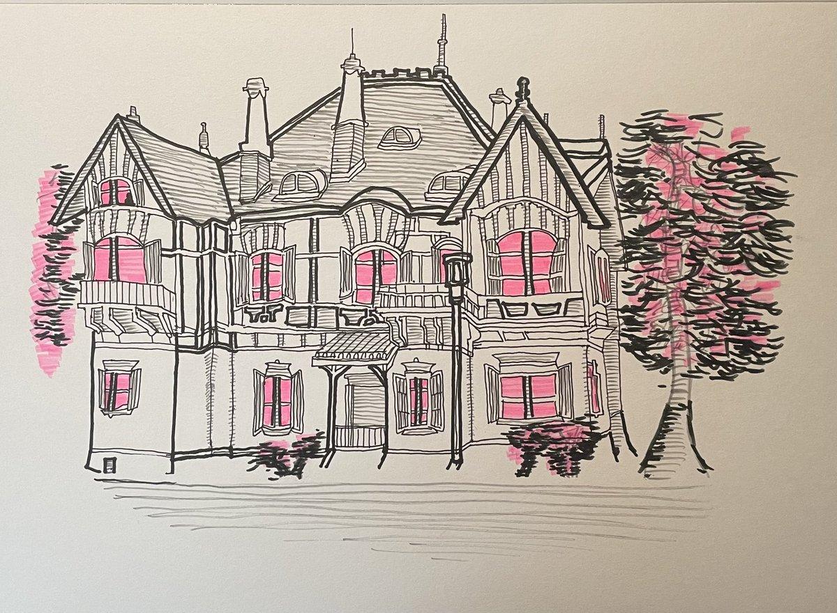 俺の別荘描いてみた#絵描きさんと繫がりたい#絵描きさんとつながりたい