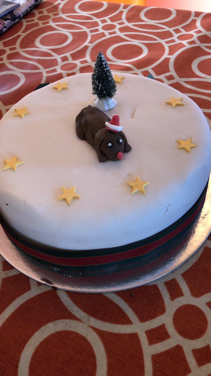 Finally my Christmas Cake has made it home #lockdownchristmas