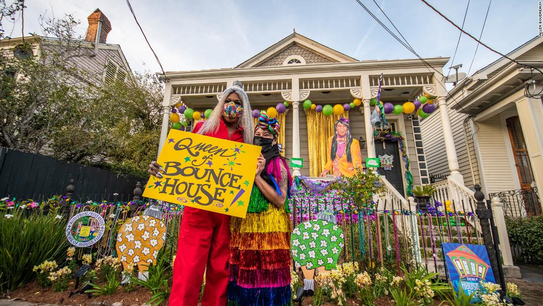 Mardi Gras parades got canceled by Covid-19. So people in New Orleans turned their houses into floats. Some 3,000 homes across New Orleans and its suburbs -- even some as far away as Luxembourg -- are dolled up for the inaugural Krewe of House Floats.