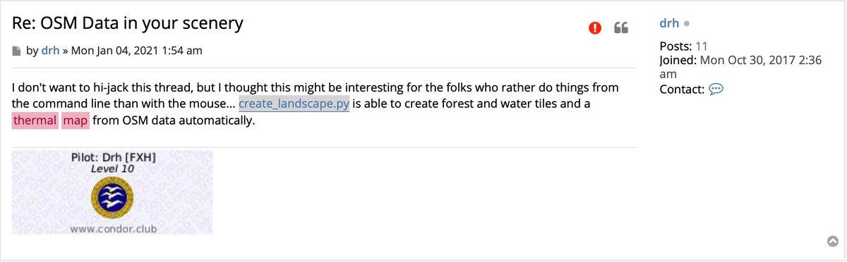 @hyperash こちらにOSMからサーマルマップをつくるツールがあるみたいなんですけど。。。私にはさっぱりです。Condor Forumにでてました。
