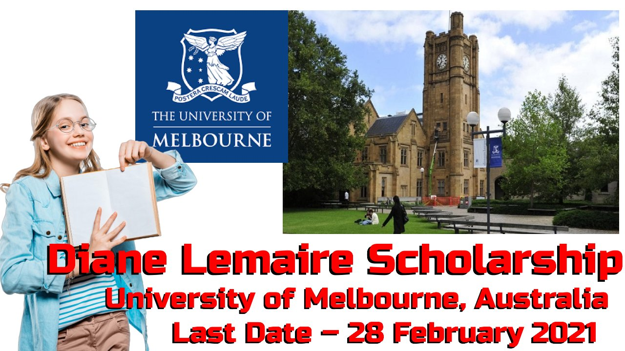 Diane Lemaire Scholarship at University of Melbourne, Australia