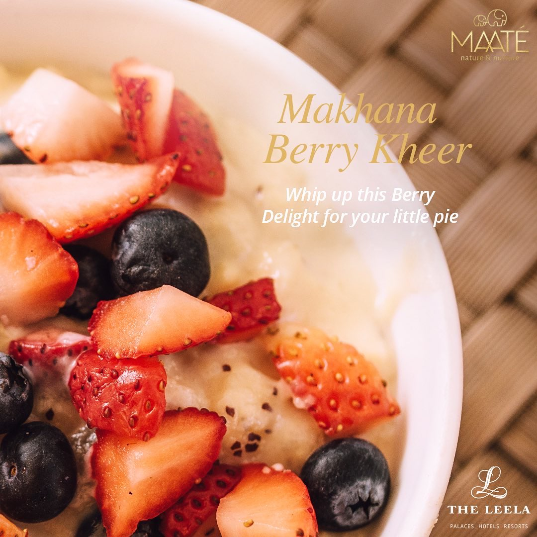 Whip up this Berry Delight for your Little one with Makhana Berry Kheer by Vinod Saini, Master chef Indian, The Leela Palace, New Delhi.  Checkout complete recipe here: