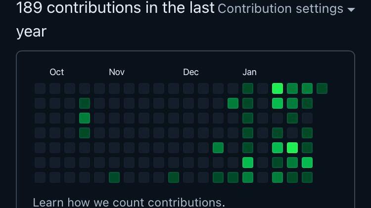 """とりあえず""""1000 contributions""""を目指して頑張ります。"""
