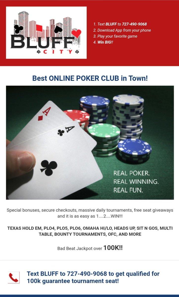 Bluff City Online Poker Club Jediopa تويتر