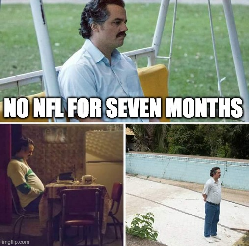 Replying to @NFLUK: 213 days until the 2021 NFL season. 😔