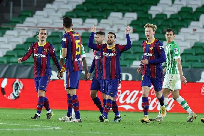 بعد دخول ميسي برشلونة يهزم بيتيس ويواصل سلسلة الإنتصارات بالليجا