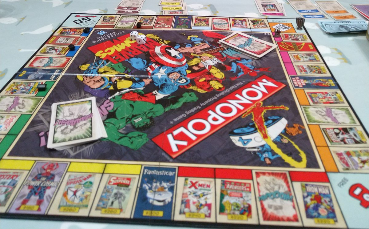 Snowed in this afternoon, a game of Marvel Comics Monopoly was considerably enlivened by the chance discovery of an unconsumed bottle of Christmas glühwein... #WetFebruary #LivingOnTheEdge
