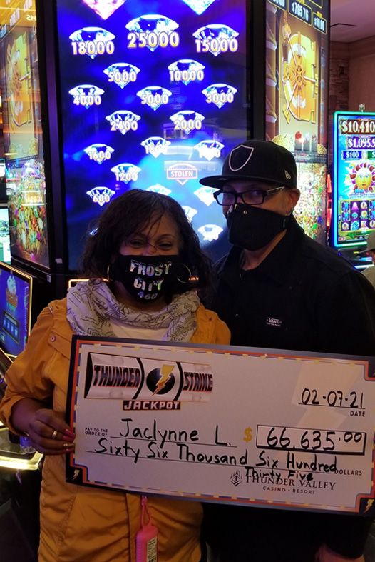 Thunder struck down early this morning for Jaclynne when she took home $66,635 on The Vault: China Blessings! 💎 ⛈️ 🎰 💰 🎉