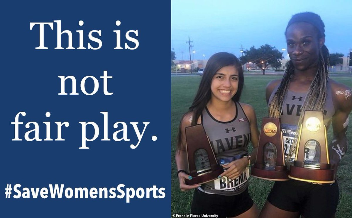 America, biological males are taking spaces, prizes and opportunities away from girls and women. Wake up!  #SaveWomensSports #sport #NationalGirlsAndWomenInSportsDay