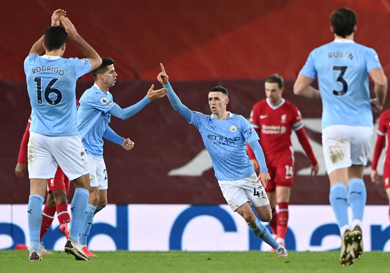 كتيبة جوارديولا: مانشستر سيتي يكتسح ليفربول بفوز تاريخي على أنفيلد وينفرد بالصدارة