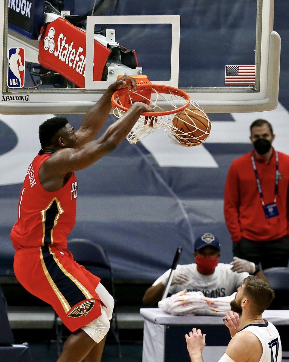 New Orleans Pelicans On Twitter Rim Never Stood A Chance Zionwilliamson Nbaallstar