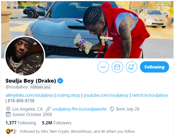 Thanks for the follow and messages @souljaboy!   The possibilities are endless🚀