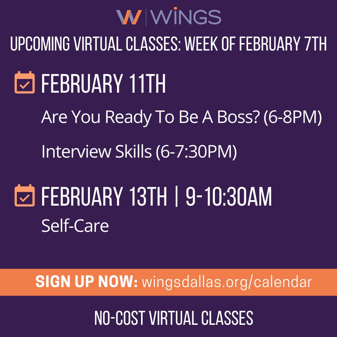 test Twitter Media - This week we're so excited to bring you classes on entrepreneurship, career prep, AND self-care! Hope you can join us! Register today by visiting https://t.co/VaAFMOs4HS. We invite you to bring a friend to any or all of these virtual classes! https://t.co/xBxcsES3LB