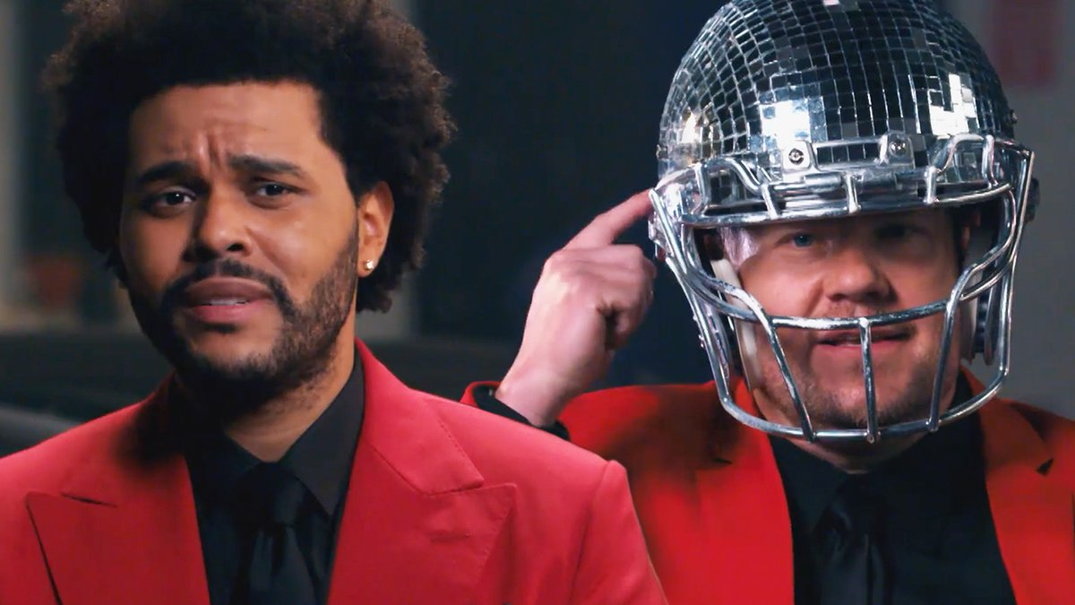 James Corden crashes @TheWeeknd's rehearsals for his #SuperBowl LV #PepsiHalftime Show to offer some pointers and make sure the performance will have enough ✨razzle dazzle✨ for the biggest stage in sports. #SBLV