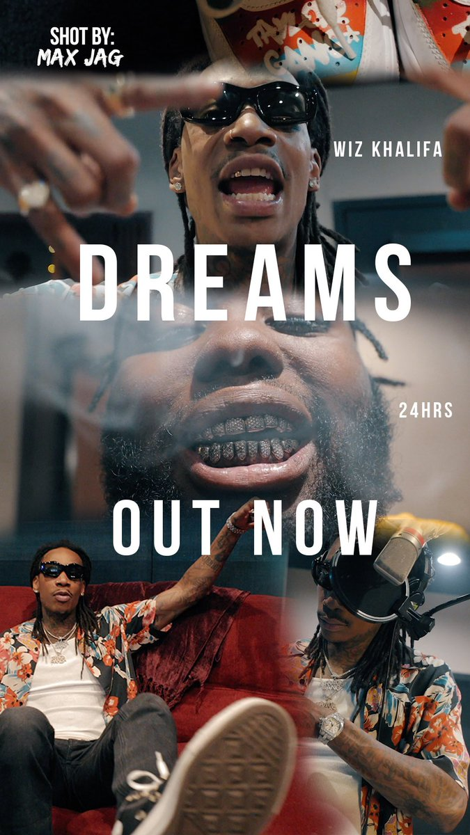 "Replying to @TaylorGang: #OutNow @2fourhrs @wizkhalifa ""Dreams"" 📽 Watch:"