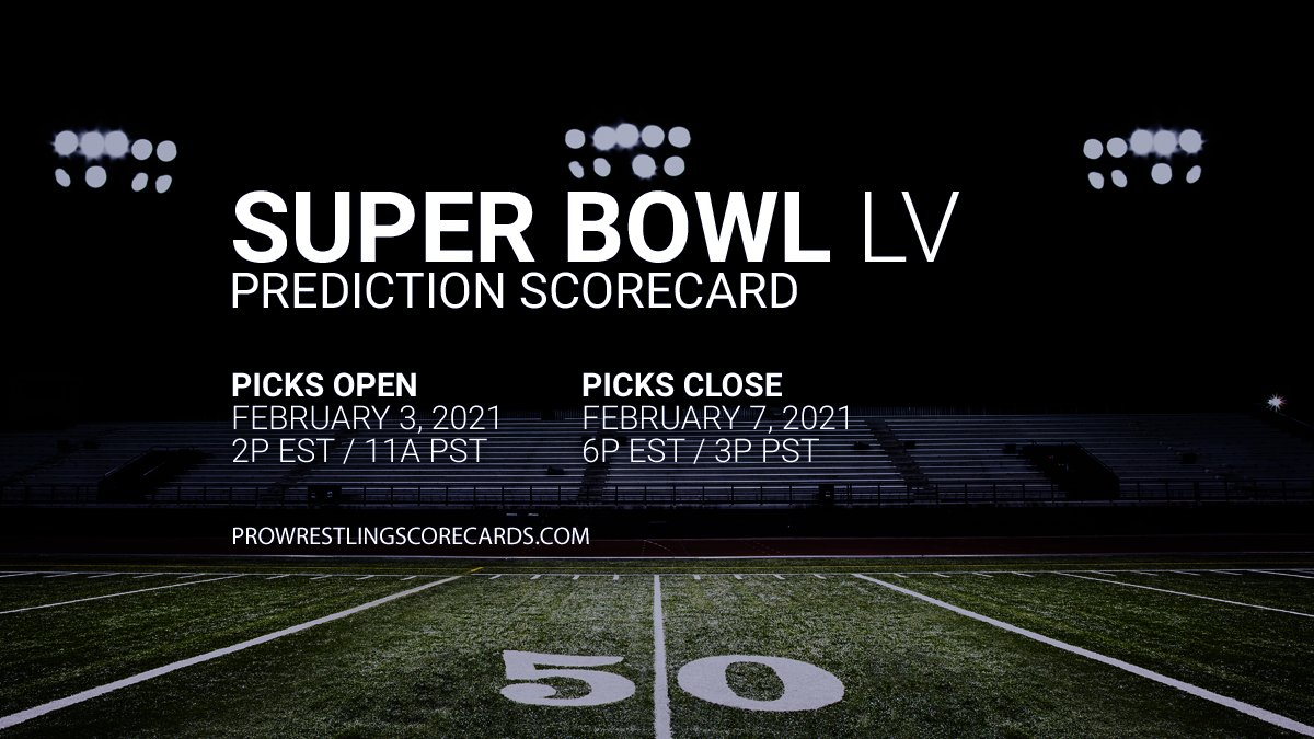 #PWS results for the NFL Super Bowl LV  prediction scorecard will post to this thread at the conclusion of each match.  Use #PWSResults to join the conversation.  #SuperBowlLV