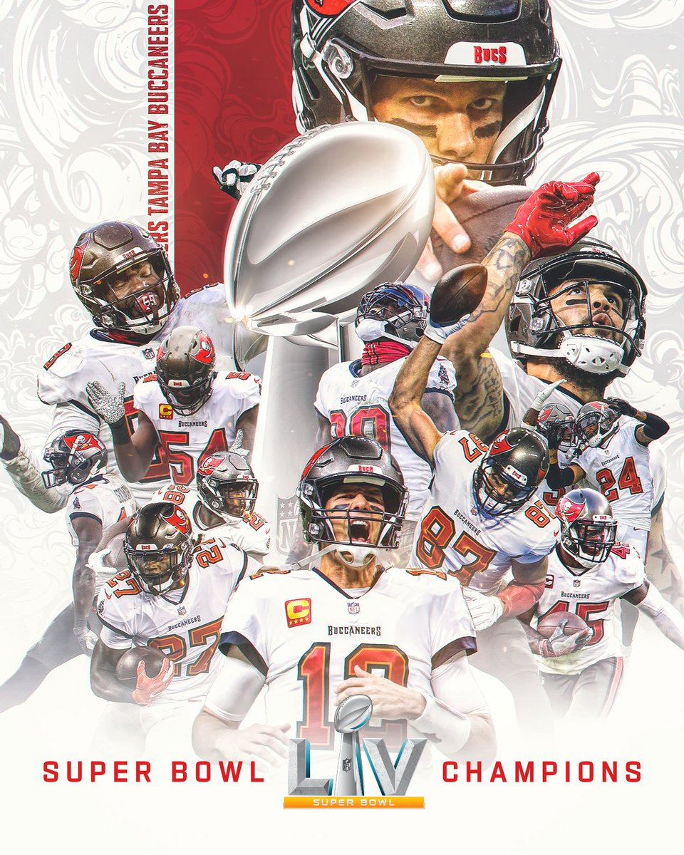 THE @BUCCANEERS ARE SUPER BOWL LV CHAMPIONS! #SBLV #GoBucs