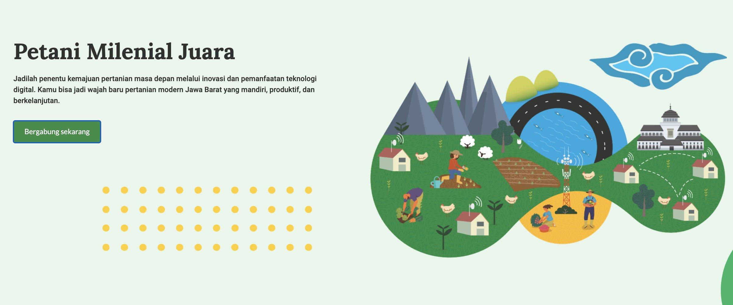 Tampilan Website Petani Digital (Gambar via petanimilenial.jabarprov.go.id)