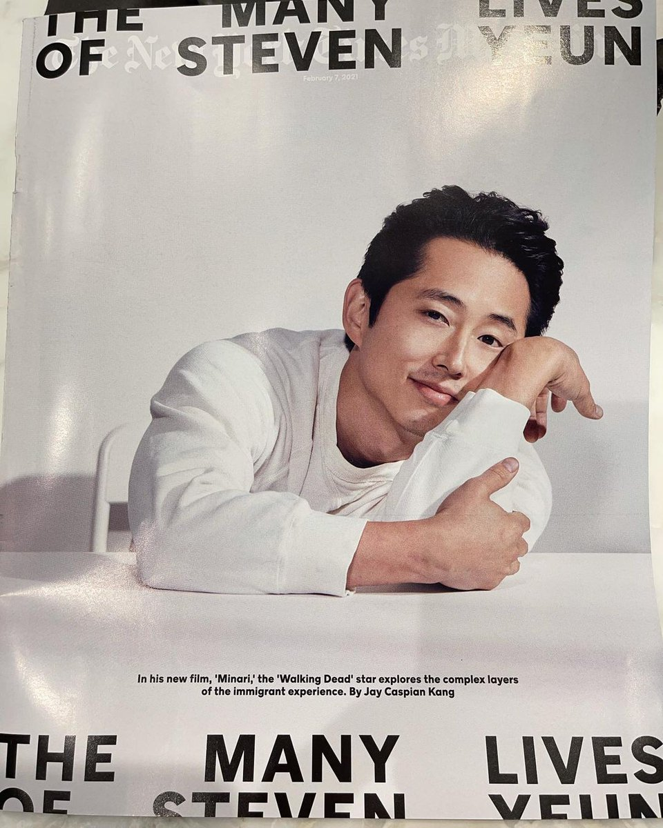 Always always good to see one of the nicest people around on the cover of the New York Times Magazine. #stevenyeun