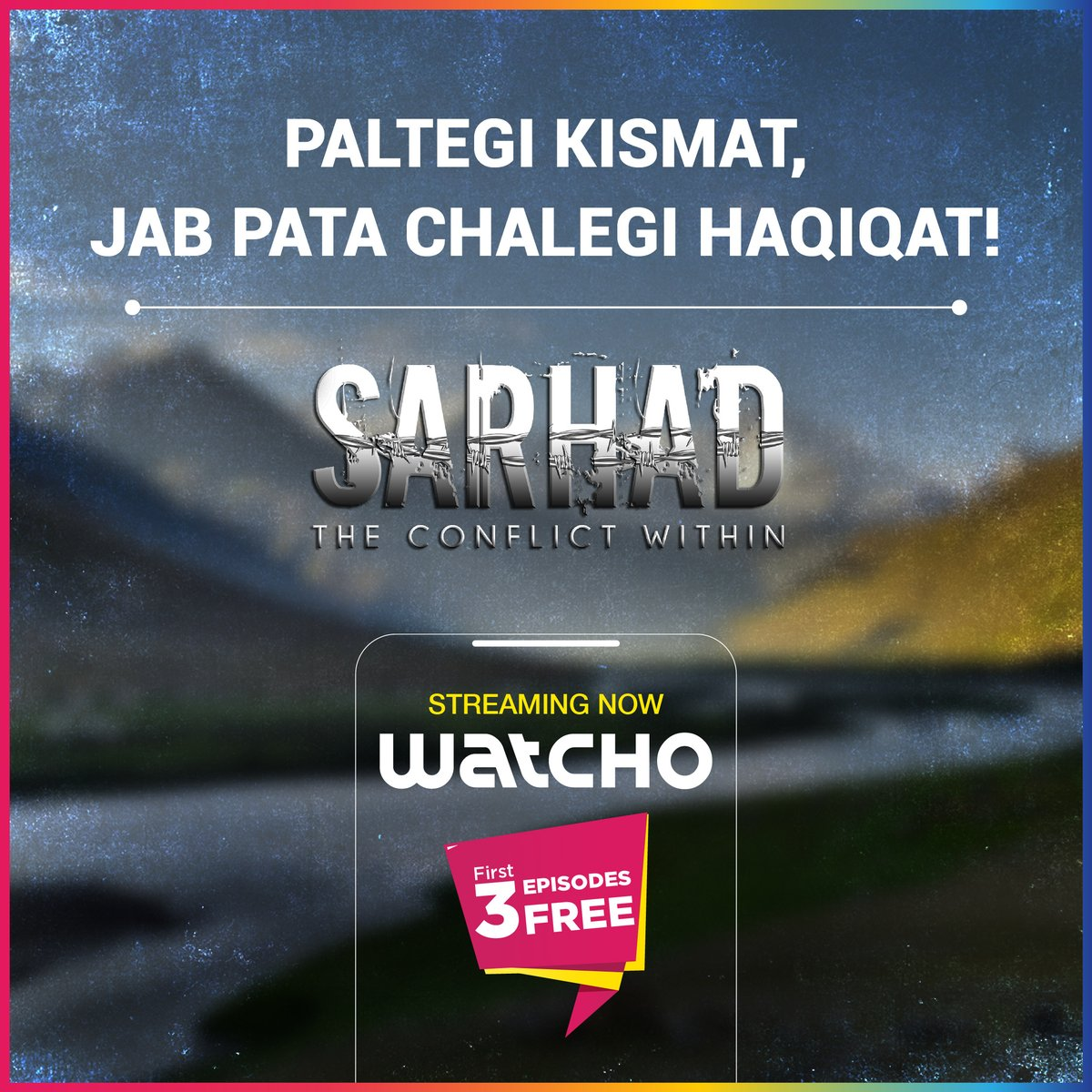 Thrill bhi hai, plot twists bhi! Sarhad - The Conflict Within - streaming exclusively on Watcho.  #LetsWatcho #Watcho #MustWatch #HappyRepublicDay #Nationalism  #love #patriots #national #proudindian   @DishTV_India  @officiald2h  @PerceptEMC