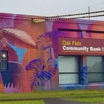 We love seeing our #CreativeArts students share their wonderful artistic talents with the community 🧑🎨🎨🙌  Like @sjchsdow alumna, Claire Foxton, who has painted this beautiful #WallMural on the side of @bendigobank's Oak Flats branch. Nice work, Claire! 👌