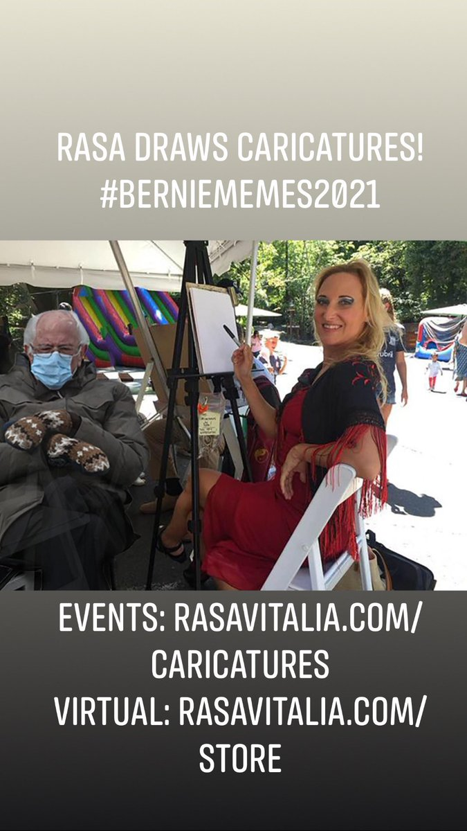 Rasa draws caricatures!  #berniememes2021 Events:  Virtual:   #caricature #eventcaricatures #eventsbernie