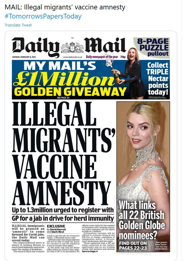 👏You👏cant👏offer👏an👏amnesty👏for👏something👏everyone👏is👏entitled👏to👏anyway👏 We dont need spin @nadhimzahawi, we need an end to the #HostileEnvironment 🚫Guarantee NO data shared with the Home Office 🏥End NHS charging 🗣Ensure everyone knows their right to access care