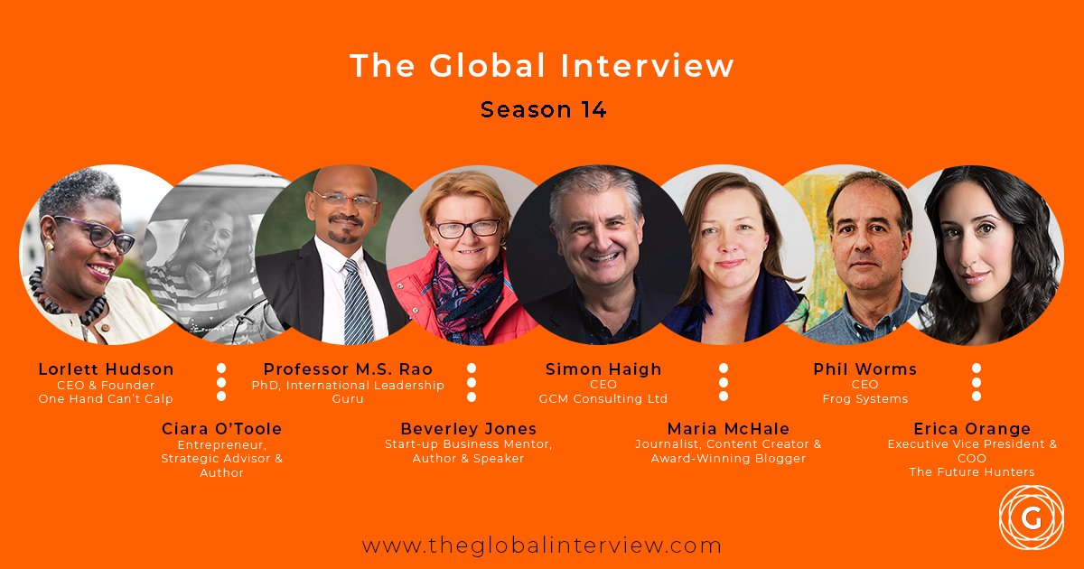Happy to be included among such an accomplished group of global leaders #TGI #Future #TheGlobalInterview