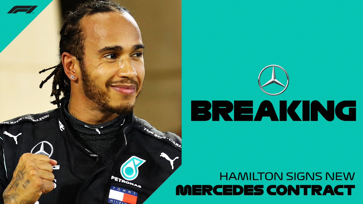 BREAKING: @LewisHamilton signs new @MercedesAMGF1 contract   #F1 https://t.co/aTYFYO3BjJ