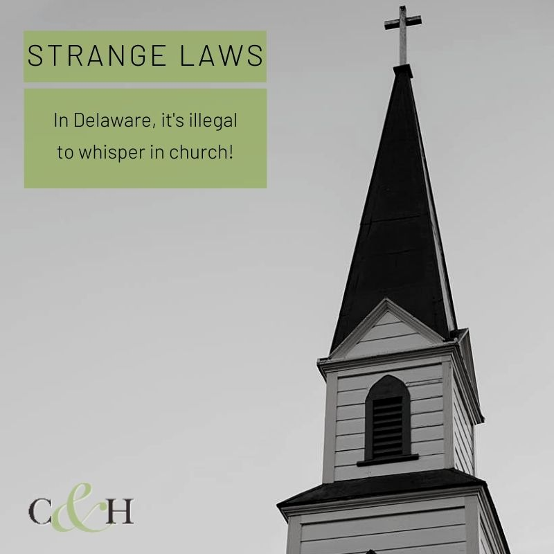 Did you hear that? If you're in a church in #Delaware, hopefully not — it's illegal to whisper in church! #WeirdLaws