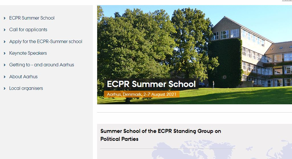 To all Party Politics PhDs: The call is open for the 2021 ECPR Summer School at @AarhusUni. Great speakers, great research feedback, great grad. students, great networking! Apply! ps.au.dk/ecpr-summer-sc….