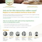 Image for the Tweet beginning: @FOCUS_Refugees is hosting their first