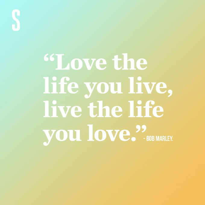 Happy belated birthday to the legendary Bob Marley, celebrating love in all forms with words to live by.