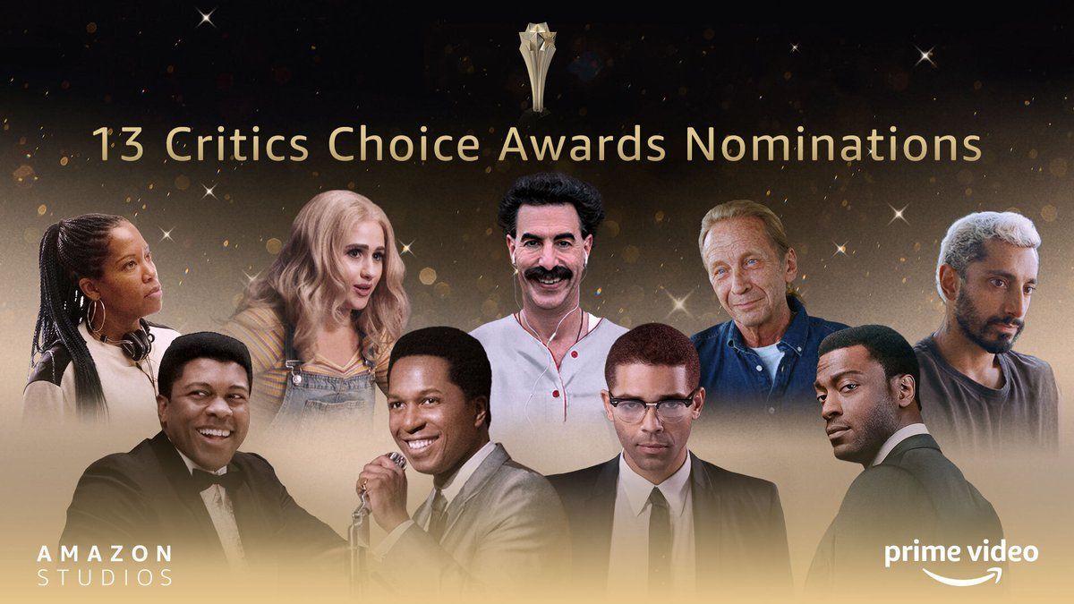 We're so thrilled to announce our 13 nominations in this year's @CriticsChoice Awards! The celebrations continue! 🎊