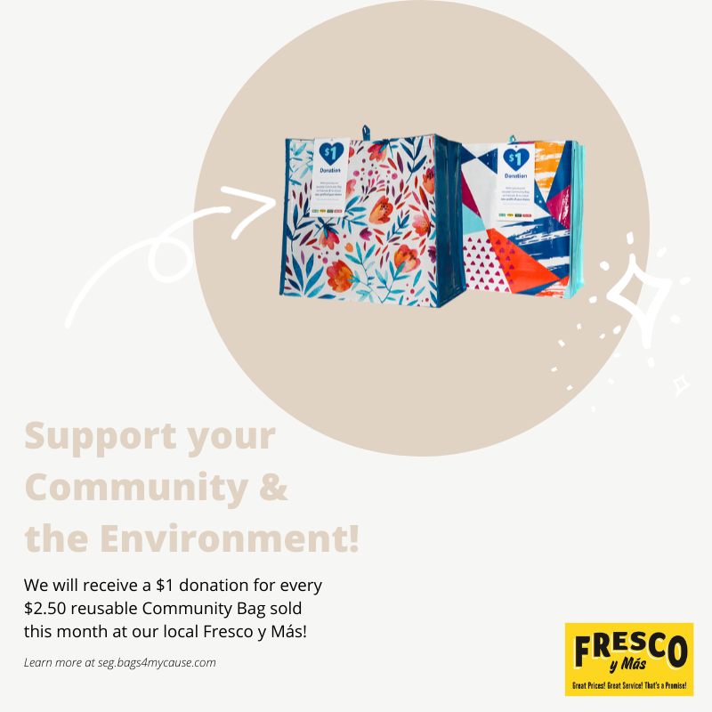 This month, for every Community Bag purchased at the Fresco y Más located at 14655 Southwest 104th Street, we will receive a $1 donation! #giveback #dogood   @frescoymas https://t.co/v2c6bhaTML