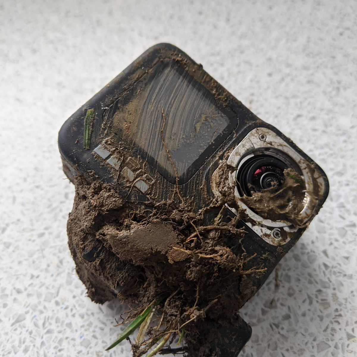 The @gopro took a beating today, unbelievably it actually still works just not that user friendly. Video this #furzday of the #skitrike  #gopro  #wreaked #smashed #drifting
