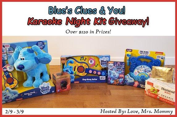 #WIN a HUGE $120+ #BluesCluesAndYou #BluesSingAlongSpectacular #Karaoke Kit! Includes Plush Toy, Sing-Along #guitar, #boombox w/mic + more! #TVShow #Kids #GIVEAWAY #Nickelodeon #Contest #Free #BluesClues @Love_MrsMommy @Nickelodeon