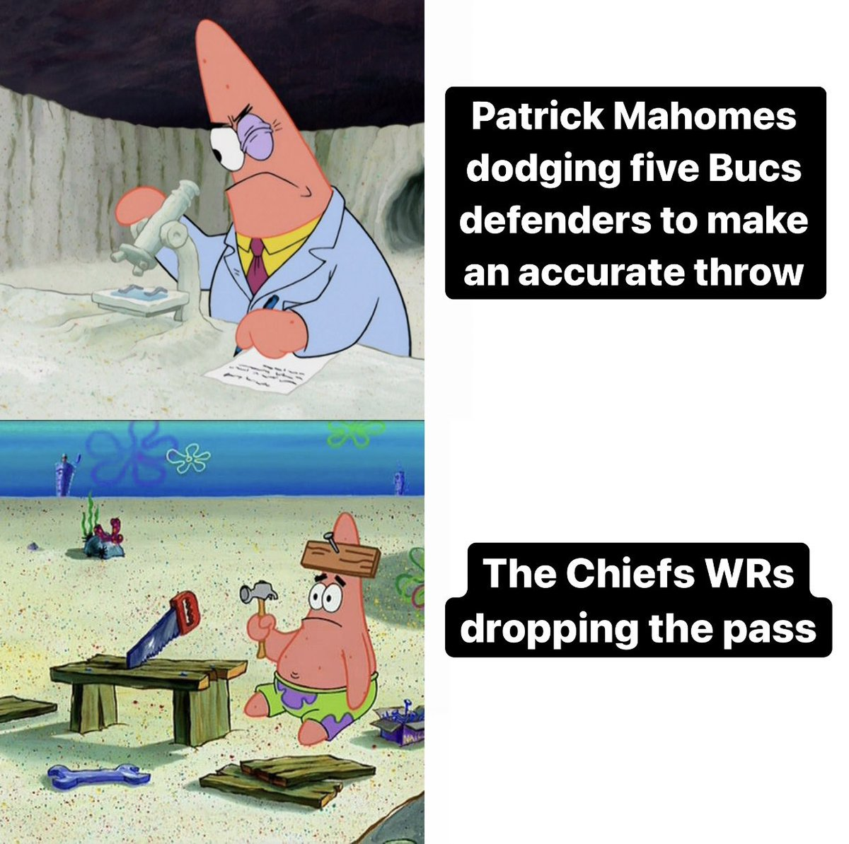 Replying to @NFL_Memes: Chiefs offense summed up