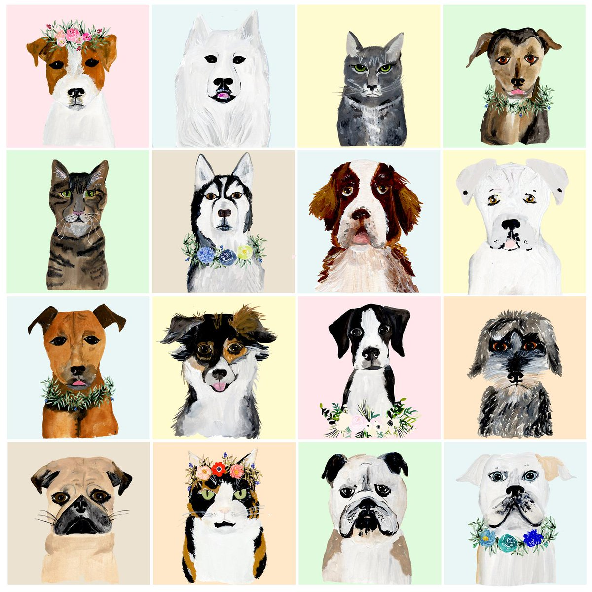 If you thought you didnt need a custom illustrated pet portrait, here are 16 adorable reasons why youre wrong etsy.me/2NYcOK3