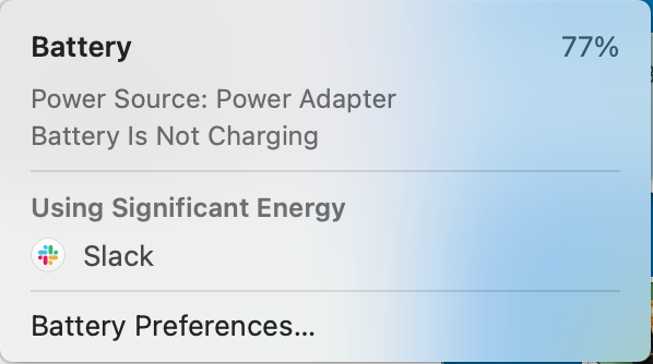 Yes, Slack is definitely using my energy 😂
