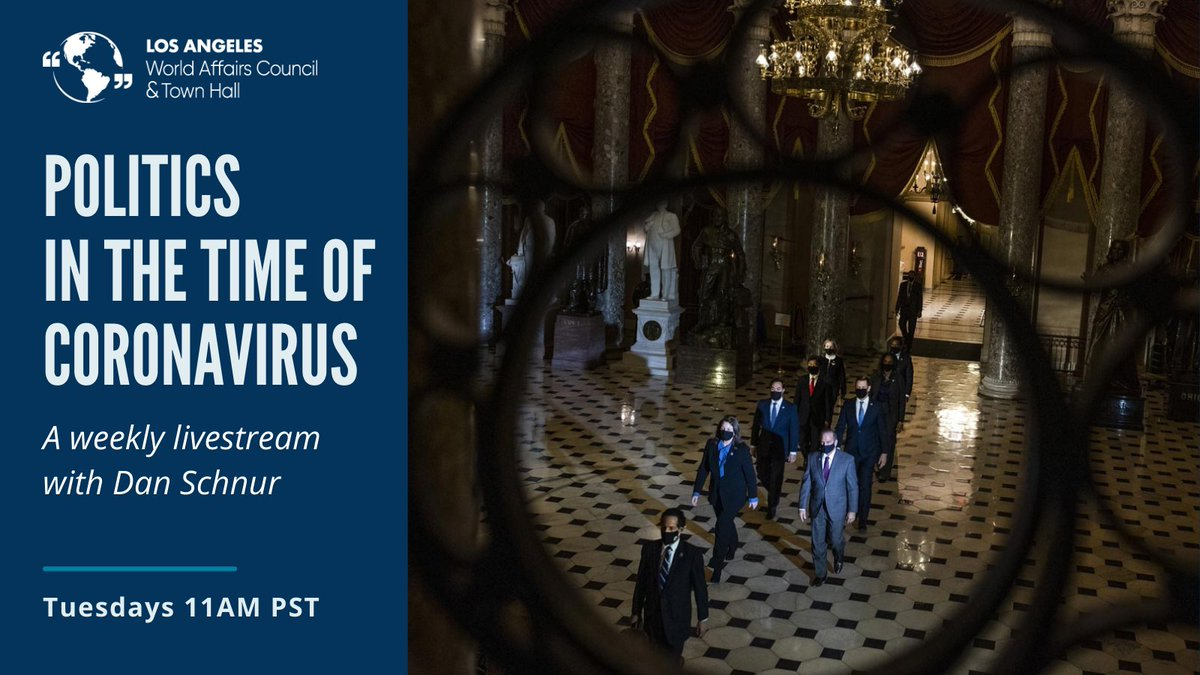 """""""What Will #Biden's First Big Compromise Be?"""" Get an answer to questions like this and more with our weekly webinar, """"Politics in the Time of Corona Virus,"""" a discussion hosted by @danschnur, a #politics professor at @UCBerkley, @USC, and @Pepperdine."""