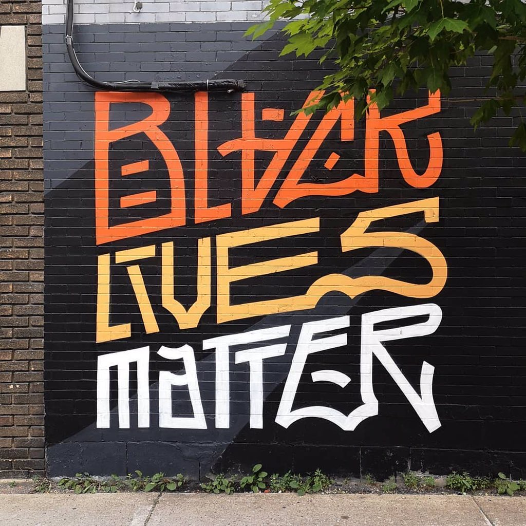 Beautiful Black Lives Matter Mural by  louis_letters    #blacklivesmatter #blmquotes #blm #blm2021 #equality #racism #solidarity #blacklives #mlk #blmmovement #nojusticenopeace #blacklivesmatterplaza #blmprotest #blmfist