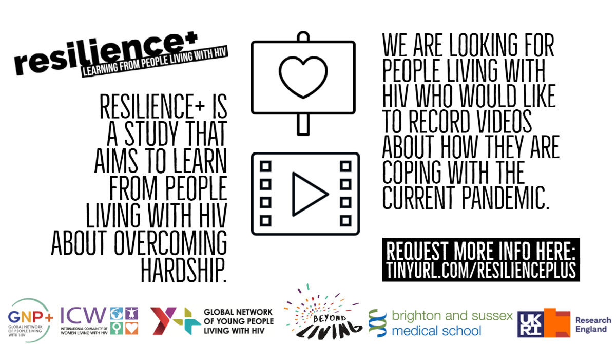 📢We are looking for people living with #HIV who would like to record videos about how they are coping with the #Covid-19 #pandemic.  We won't show your videos to anyone without your permission.   Would you like to take part? Request more info here