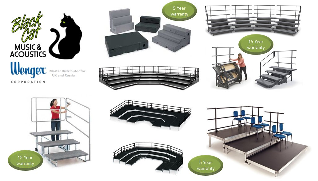 Black Cat Music offers the full range of Wenger choral risers, which are lightweight, portable, easy to set up and extremely durable.  The top-selling Wenger Tourmaster risers come with a full 15-year warranty.  https://t.co/dN3I064ARX https://t.co/bqrhubgrIq