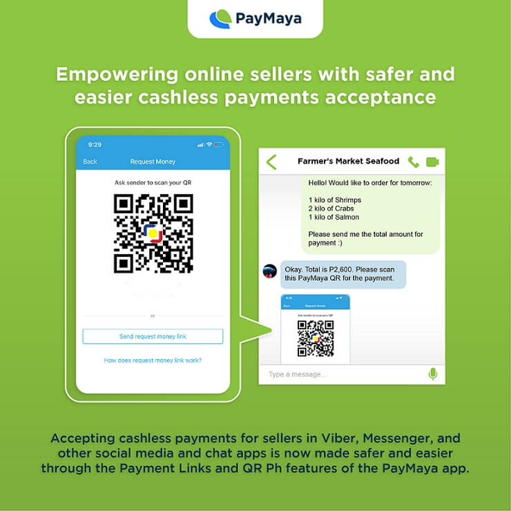 PayMaya has made it even easier for sellers in Viber, Messenger, Instagram, and other social media and chat apps to accept cashless payments through the Payment Links and QR Ph features of the PayMaya app.@PayMayaOfficial   #Adobotech #DontPayCashPayMaya